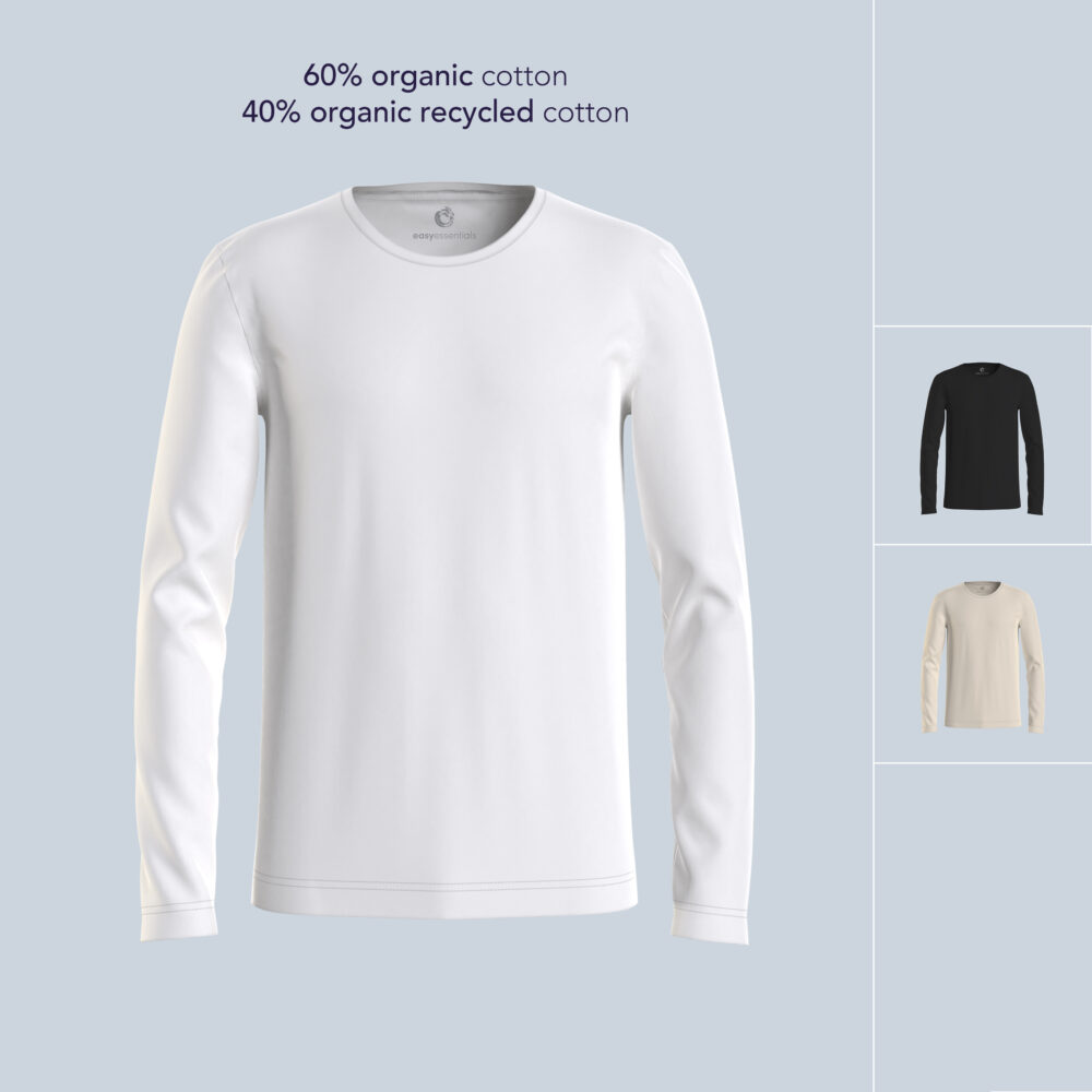 recycled organic cotton longsleeve